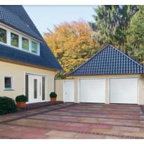 Autotallin nosto-ovi Hörmann RenoMatic Sandgrain 2375x2125mm, vaakauritettu, valkoinen