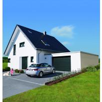 Autotallin nosto-ovi Hörmann RenoMatic Sandgrain 2500x2000mm, vaakauritettu, harmaa