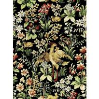 Paneelitapetti Mindthegap Floral Tapestry, 1.56x3m, musta
