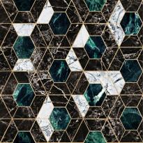Tapetti Mindthegap Hexa, 0.52x10m, musta/vihreä
