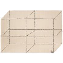 Villamatto Mum's Avaruusseikkailu, 170x240cm, mustavalkoinen