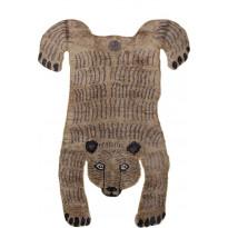Villamatto Mum's Baby Bear, 90x120cm, ruskea