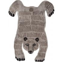 Villamatto Mum's Baby Bear, 90x120cm, vaaleanharmaa