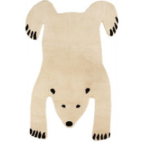 Villamatto Mum's Baby Polar Bear, 90x120cm, natural/musta