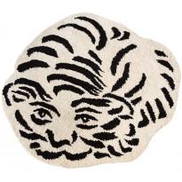 Villamatto Mum's Tiger, luksus, Ø150cm, mustavalkoinen