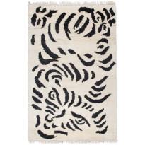 Villamatto Mum's Tiger, luksus, 170x240cm, mustavalkoinen