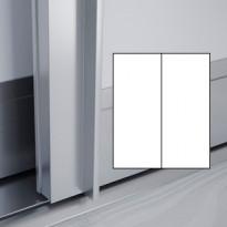 Liukuovet 2kpl Lumo - valkoinen + valkoinen + kehys alumiini