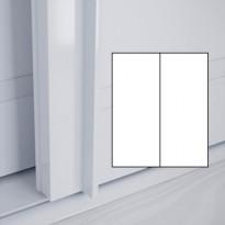 Liukuovet 2kpl Lumo - valkoinen + valkoinen + kehys valkoinen