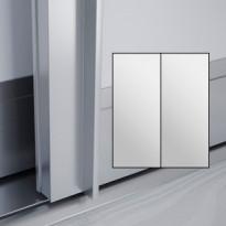 Liukuovet 2kpl Lumo - peili + peili + kehys alumiini