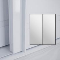 Liukuovet 2kpl Lumo - peili + peili + kehys valkoinen