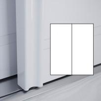 Liukuovet 2kpl Villa - valkoinen + valkoinen + kehys valkoinen