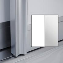 Liukuovet 2kpl Villa - valkoinen + peili + kehys hopea