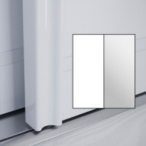 Liukuovet 2kpl Villa - valkoinen + peili + kehys valkoinen