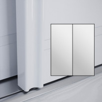 Liukuovet 2kpl Villa - peili + peili + kehys valkoinen