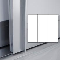 Liukuovet 3kpl Lumo - valkoinen + valkoinen + valkoinen + kehys alumiini