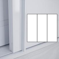 Liukuovet 3kpl Lumo - valkoinen + valkoinen + valkoinen + kehys valkoinen