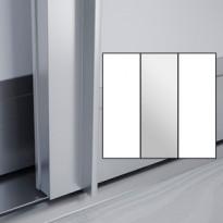 Liukuovet 3kpl Lumo - valkoinen + peili + valkoinen + kehys alumiini