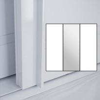 Liukuovet 3kpl Lumo - valkoinen + peili + valkoinen + kehys valkoinen