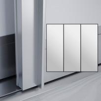 Liukuovet 3kpl Lumo - peili + peili + peili + kehys alumiini