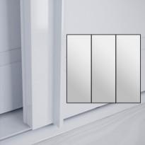 Liukuovet 3kpl Lumo - peili + peili + peili + kehys valkoinen