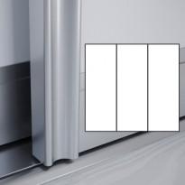 Liukuovet 3kpl Villa - valkoinen + valkoinen + valkoinen + kehys hopea