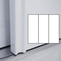 Liukuovet 3kpl Villa - valkoinen + valkoinen + valkoinen + kehys valkoinen