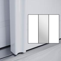 Liukuovet 3kpl Villa - valkoinen + peili + valkoinen + kehys valkoinen