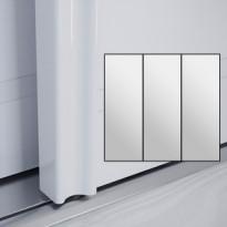 Liukuovet 3kpl Villa - peili + peili + peili + kehys valkoinen