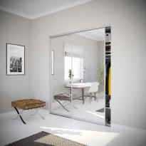 Liukuovi Nettiovi Villa, kahdella ovella, teräskehys, mittojen mukaan