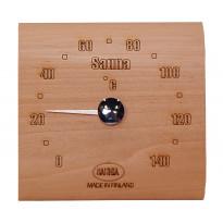 Saunan lämpömittari, 14x13cm, tervaleppä