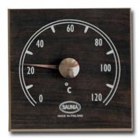 Saunan lämpömittari, 12x12cm, musta
