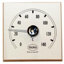 Saunan lämpömittari, 12x12cm, valkoinen