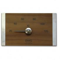 Saunan lämpömittari, lämpökäsitelty puu/ruostumaton teräs
