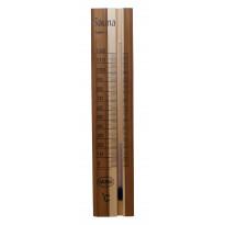 Saunan kapillaarilämpömittari, 10x34,5cm, lämpökäsitelty puu