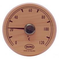Saunan lämpömittari, pyöreä, 11cm, tervaleppä