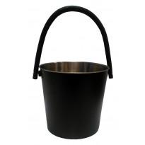 Saunasanko, 10L, ruostumaton teräs, musta