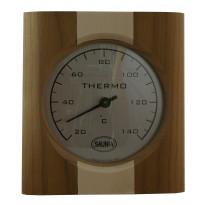 Saunan lämpömittari, vaalea pystyraita, 15x18,8cm, lämpökäsitelty koivu