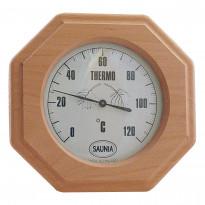 Saunan lämpömittari, 13x13cm, tervaleppä
