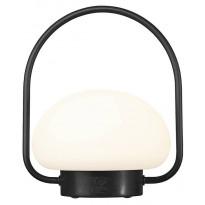 LED-terassivalaisin Nordlux Sponge, Ø200mm, IP65, musta