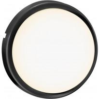 LED-ulkovalaisin Nordlux Cuba Bright Round, Ø175mm, 3000K, IP54, musta