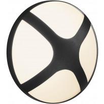Ulkoseinävalaisin Nordlux Cross, IP54, musta, eri kokoja