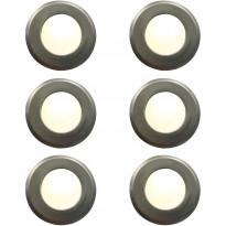 LED-alasvalosarja Nordlux Une 6-Kit, IP67, ruostumaton teräs
