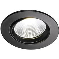 LED-alasvalo Nordlux Fremont, 4000K, musta