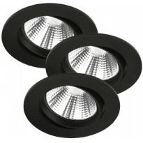 LED-alasvalosarja Nordlux Fremont, 3 kpl/pkt, 4000K, musta