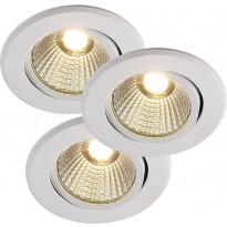 LED-alasvalosarja Nordlux Regnar, 3x5W, himmennettävä, valkoinen