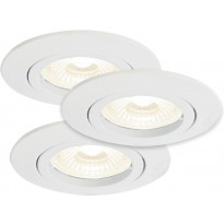 LED-alasvalosarja Nordlux Kant, ø8,2cm, 3x35W, valkoinen