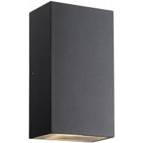 LED-ulkoseinävalaisin Nordlux Rold, ylös/alas, kulmikas, musta