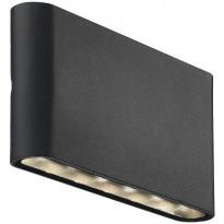 LED-seinävalaisin Nordlux Kinver, ylös/alas, musta