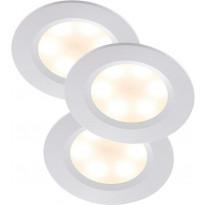 LED-alasvalosarja Nordlux Rogue, 3x3W, IP23, valkoinen