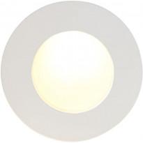 LED-alasvalo Nordlux Kuiper, ø9cm, IP23, valkoinen